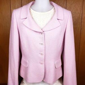 Tahari pink lilac blazer jacket size 8 Med